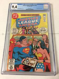 Justice League Of America 187 Cgc 9.4 White Pages