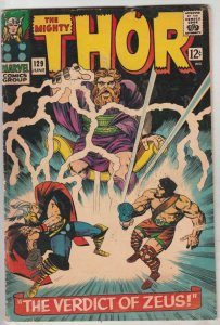 Thor, the Mighty #129 (Jun-66) VG+ Affordable-Grade Thor, Hercules