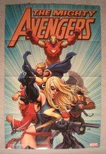 MIGHTY AVENGERS Promo Poster, 24x36, 2007, Unused, more in our store