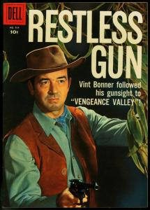Restless Gun- Four Color Comics #934 1958- Photo cover Western VF