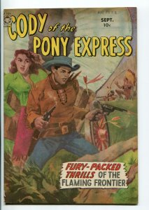 CODY OF THE PONY EXPRESS #1-1950-FOX-1ST ISSUE-INDIAN FIGHT COVER-fn/vf