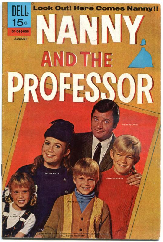 NANNY and the PROFESSOR #1, VG, Dell, 1970, Richard Long, Mills,more TV in store
