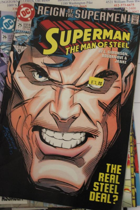 Superman the Man of Steel 25 NM