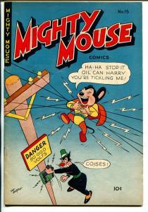 Mighty Mouse #15 1950-St John-superhero funny animals-high grade-VF
