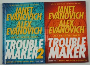 Troublemaker HC 1-2 VF/NM complete series BARNABY & HOOKER janet alex evanovich
