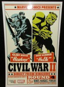 Marvel Civil War II Round 4 Cho Mini Lithograph Promo Poster (7 x 10) New!