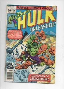 HULK #216, FN, Incredible, Bruce Banner, Bi Beast, 1968 1977, Marvel