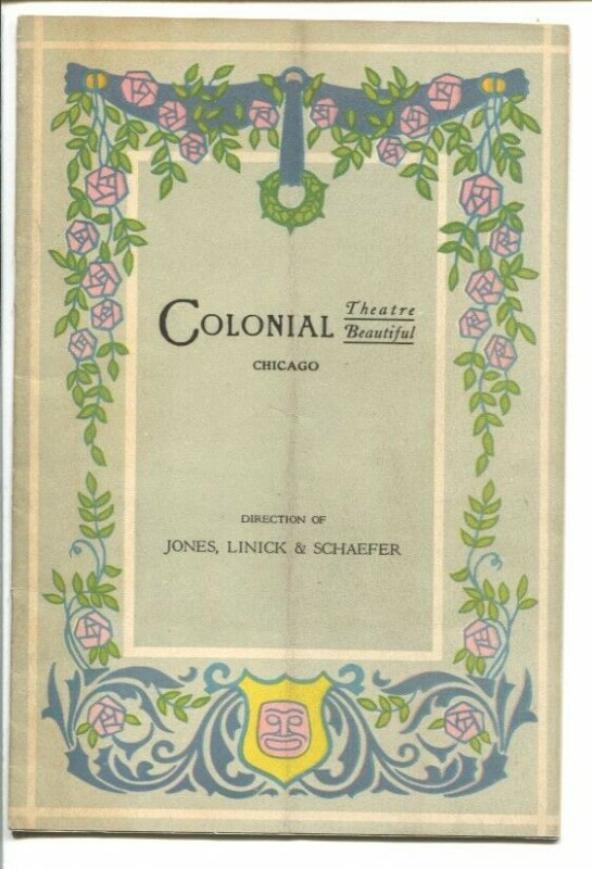Colonial Theatre Program 3/10/1918-Chicago IL-Cheating Cheaters-4 act play-VG