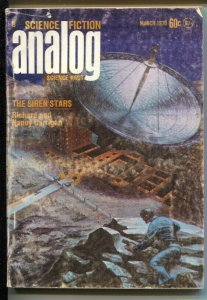 Analog 3/1970-Conde Nast-Kelly Freas flying saucer cover-G/VG