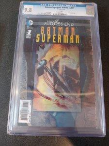 BATMAN/SUPERMAN:FUTURES END #1 CGC 9.8 3-D LENTICULAR COVER