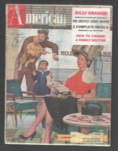 American Magazine 11/1954-cover art by Gordon Johnson-Billy Graham-pulp ficti...