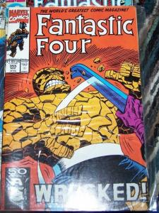 FANTASTIC FOUR #355 1991  marvel -THE WRECKER + THE THING