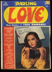 DARLING LOVE #2-PHOTO COVER-GOLDEN AGE ROMANCE G/VG