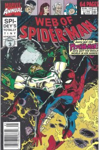 Web of Spider-Man (Annual #6, Aug 1990) - Spider-Man vs. Psycho-Man - 64 pages!
