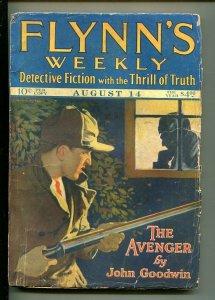 FLYNN'S WEEKLY DETECTIVE FICTION-AUG 14 1926-PULP-CLASSIC-CRIME-SHOTGUN-vg minus