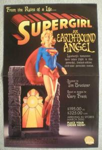 SUPERGIRL STATUE Promo Poster, 11x17, 2000, Unused, more Promos in store