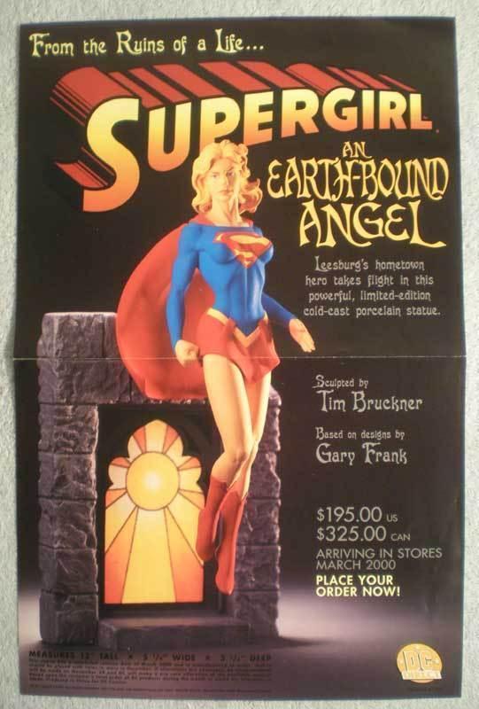 SUPERGIRL STATUE Promo Poster, 11x17, 2000, Unused, more Promos in store