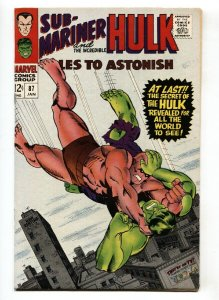 TALES TO ASTONISH #87 comic book -HULK/SUB-MARINER-1967 VF+