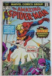 AMAZING SPIDER-MAN  #153 (Marvel,2/1976)  FINE (F) Football! Wein & Andru