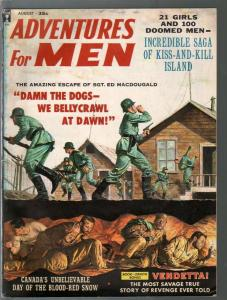 Adventures For Men 8/1959-Nazi POW prison break-bootleg whiskey-G