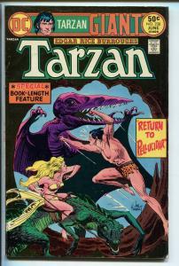 TARZAN #2358 1975-DC-EDGAR RICE BURROUGHS-GIANT ISSUE-KUBERT JUNGLE ART-vf minus
