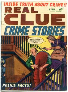 REAL CLUE CRIME STORIES V7 #2, VG-, 1952, Golden Age, Pre-code, more in store