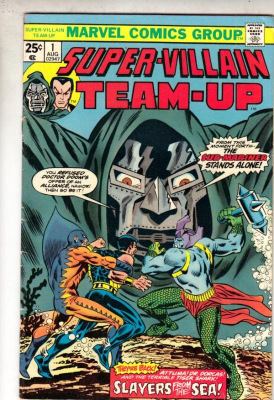 Super-Villain Team-Up #1 (Aug-75) VF High-Grade Doctor Doom,Sub-Mariner