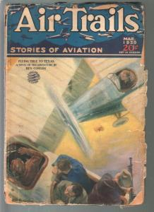 Air Trails 3/1929-air battle cover-Raoul Whitfield, Ben Conlon-G