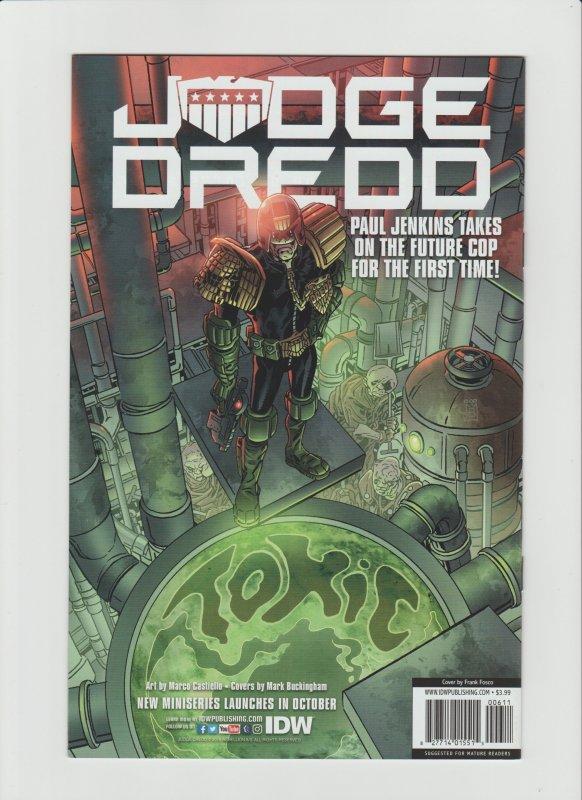 TMNT: Urban Legends #6 NM 9.2 IDW Comic Cover by Frank Fosco