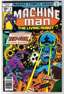 MACHINE MAN #3, FN, Jack Kirby, Living Robot, 1978, more in store