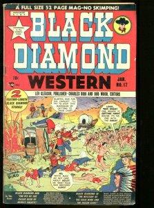 Black Diamond Western #17 1949- Wolverton art- Golden Age VG
