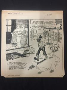 Ed Dodd Back Home Again Original Newspaper Comic Art 11/11/38