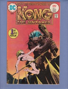 Kong The Untamed #1 FN Bernie Wrightson Cover DC 1975