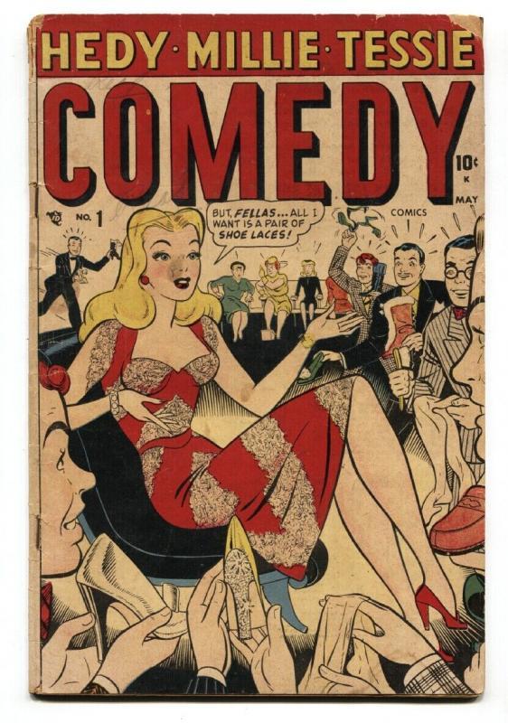 Comedy #1 1948-Timely-Millie The Model-Hedy Devine-Tillie The Typist-G/VG