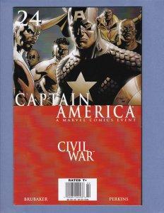 Captain America #24 VF Civil War Marvel 2007