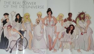 2008 Adam Hughes The Real Power Of The DC Universe Promo Poster 33 X 21 A8