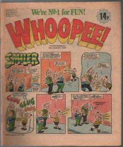 Whoopee! 8/15/1981-UK tabloid comic book-Tom Horror-Lolly Pop-Frankie Stein-FN