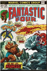 Fantastic Four #138, 5.0 or Better - Return of Miracle Man