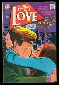 FALLING IN LOVE #93 1967-DC ROMANCE COMICS-HOT COVER VG