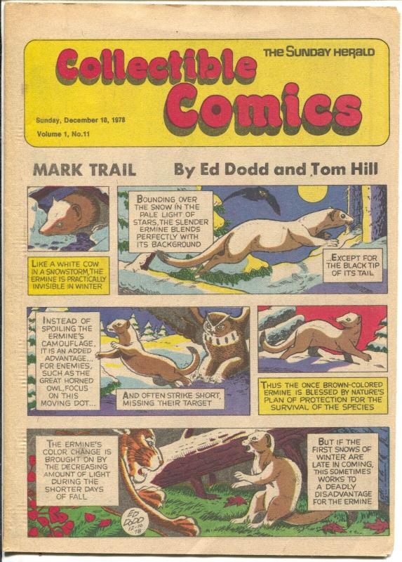 Collectible Comics #11 1978-Sunday Herald-Tarzan-Russ Manning-Gil Kane-FN/VF