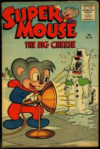 Supermouse The Big Cheese #35 1956- Funny Animals- Snowman cover VG+
