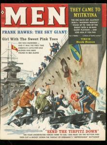 MEN MAGAZINE JAN 1960-NAZI SUBMARINE COVER-TIRPITZ-BAMA FN