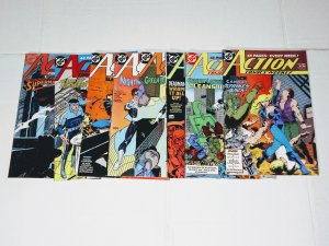 Action Comics - Comic Book Lot of 8 all great copies (cl#13)