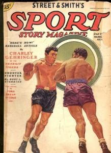 SPORT STORY 5/1936-BRUTAL BOXING COVER-STREET & SMITH!  G