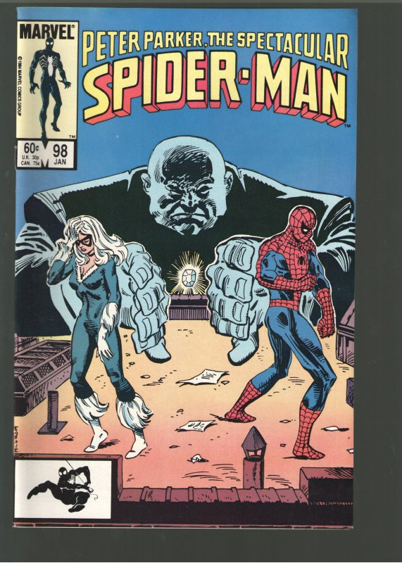 PETER PARKER THE SPECTACULAR SPIDERMAN #98 NM;1ST SPOT