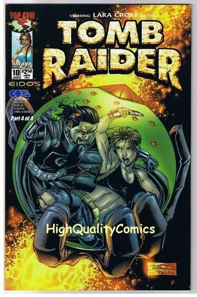 TOMB RAIDER #10, NM+, Lara Croft, Andy Park, 1999, more TR in store