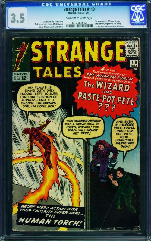 Strange Tales #110 CGC 3.5 First appearance Dr. Strange-1963 - 1262388012