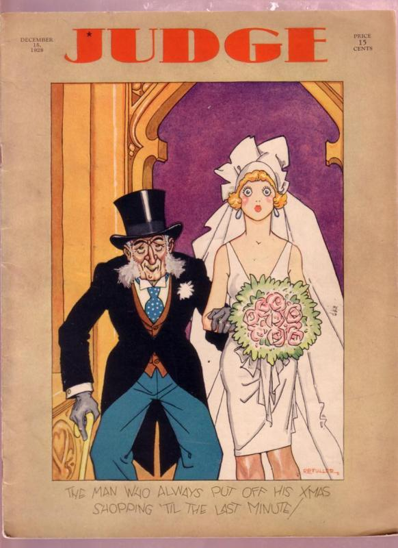 JUDGE DEC. 1928-EARLY COMIC ART-DR SEUSS-RB FULLER-RARE FN