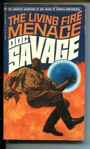 DOC SAVAGE-THE LIVING FIRE MENACE-#61-ROBESON-BAMA COVER-1ST ED VG/FN