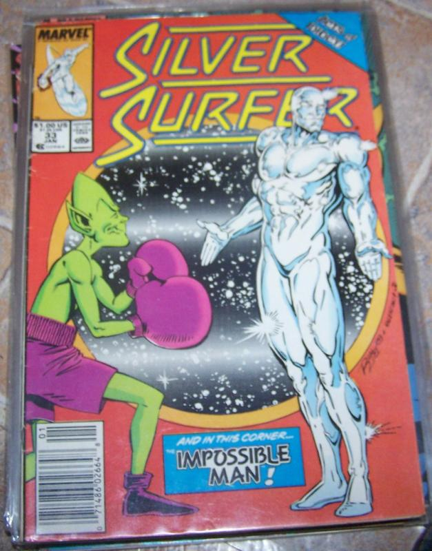 Silver Surfer # 33 JAN 1990  MARVEL IMPOSSIBLE MAN -FUN